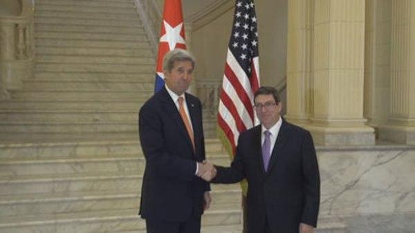 Recibe Canciller Bruno Rodríguez a Secretario de Estado de EE.UU