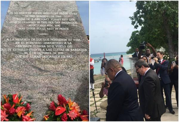 Bruno Rodríguez rinde tributo a víctimas del Crimen de Barbados