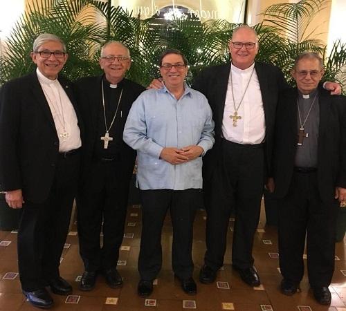 Canciller cubano dialoga con el Arzobispo de Nueva York