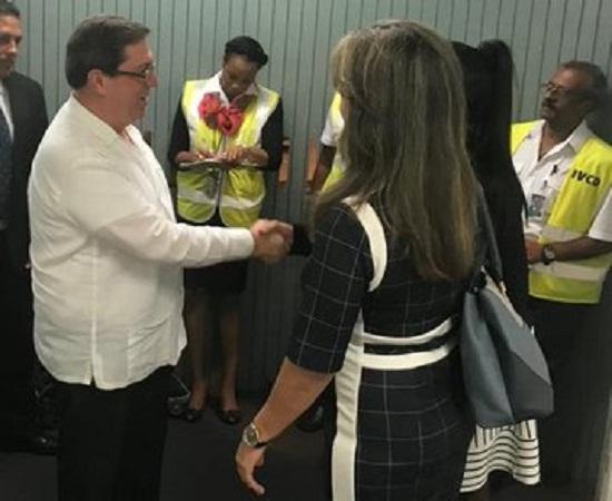 Canciller cubano en Trinidad y Tobago para iniciar gira caribeña