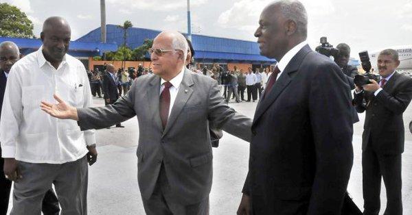 Vicepresidente cubano recibió al Ministro de Estado de Angola