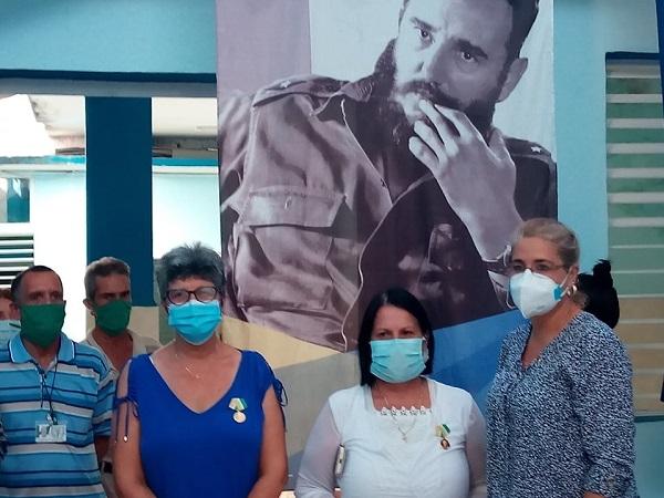 Trabajadores de la Campaña Antivectorial en Camagüey rinden tributo a Fidel Castro