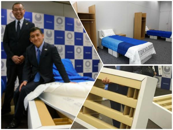 Tokio 2020: camas de cartón en la Villa Olímpica