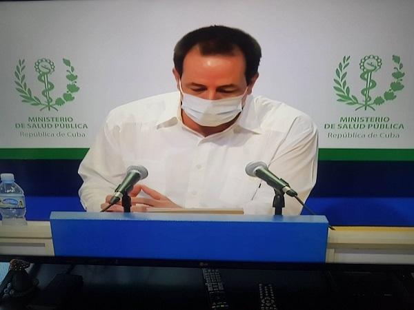 Ministro cubano de Salud Pública comparece en conferencia de prensa sobre la COVID-19 (Transmisión en vivo)