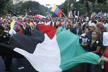 Jornada solidaria en Venezuela de respaldo a Palestina