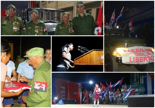 Jóvenes camagüeyanos ratifican compromiso con la Revolución al reeditar Caravana de la Libertad