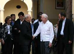 Cuba: Ex Presidente Carter visita sinagoga y se reúne con Cardenal Ortega (+ Fotos y Video)