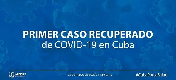 Dan alta a primer paciente en Cuba recuperado de la Covid-19