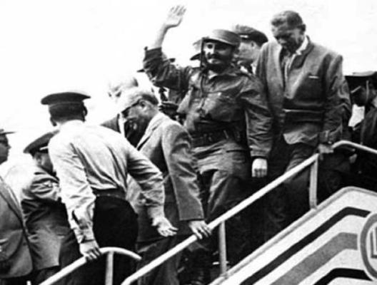 Fidel Castro arribó el viernes 23 de enero de 1959 al aeropuerto de Maiquetía