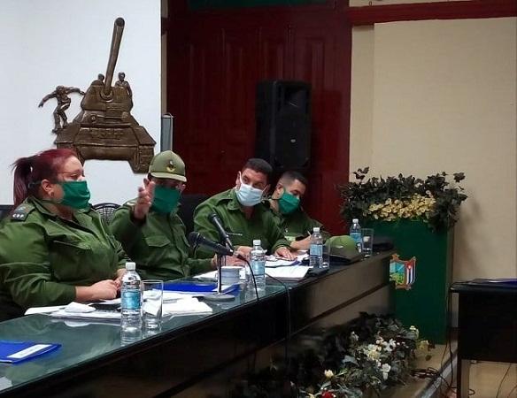 Consejo de Defensa en Camagüey analiza atención a consejo popular en cuarentena