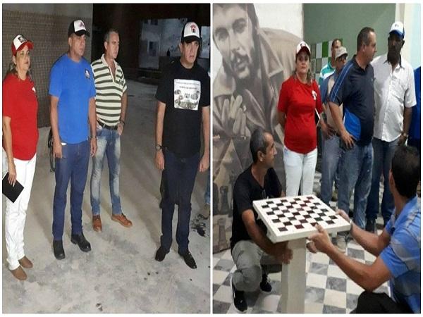 Evalúan máximas autoridades de Camagüey acciones constructivas en instalaciones deportivas (+ Post)