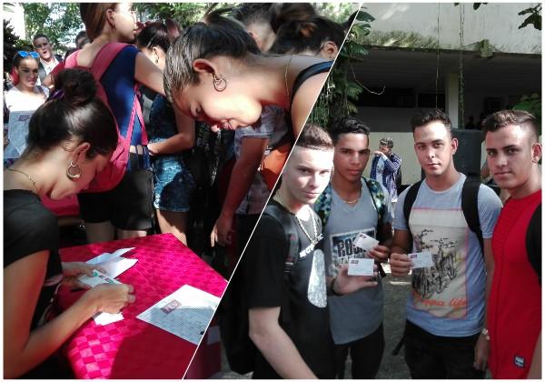 Ingresan a la FEU jóvenes que comienzan estudios en Universidad de Camagüey