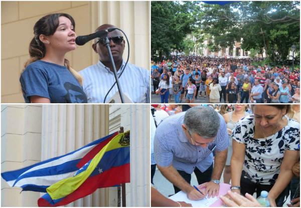 Rubrican universitarios cubanos su respaldo a la Revolución bolivariana