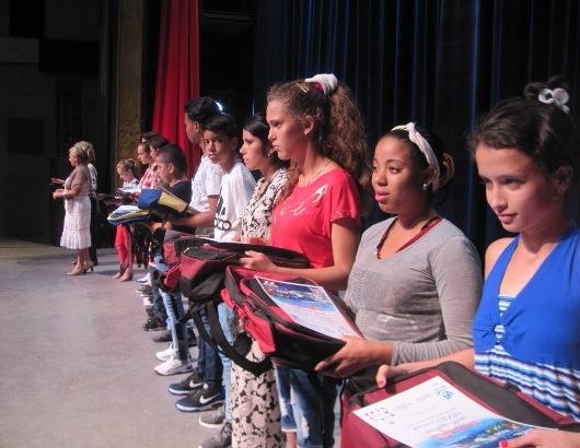 Premiados en Camagüey niños cubanos ganadores del concurso Trazaguas