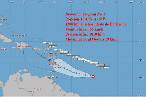 Emiten en Cuba aviso sobre depresión tropical