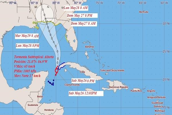Se aproxima al occidente cubano tormenta subtropical Alberto (+ Imágenes)