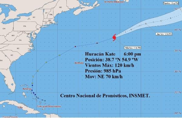 Huracán Kate comienza a perder características tropicales