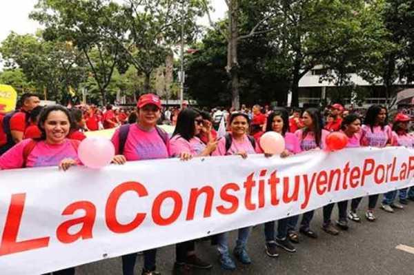 Pueblo venezolano respalda campaña para la Asamblea Constituyente