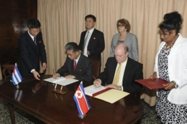 Cuba y la RPDC establecen protocolos comerciales
