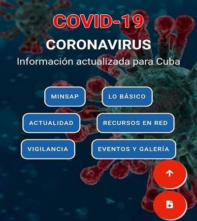 Disponible aplicación móvil desarrollada por Infomed sobre el coronavirus COVID-19
