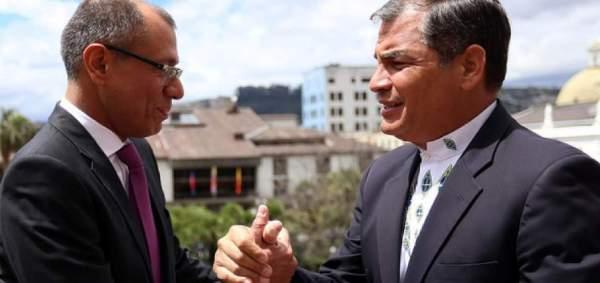 Respalda Rafael Correa a Vicepresidente de Ecuador