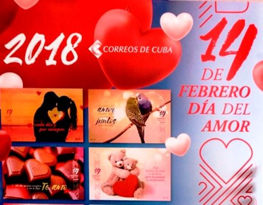 Distribuye Correos de Cuba postales alegóricas al Día del amor y la amistad
