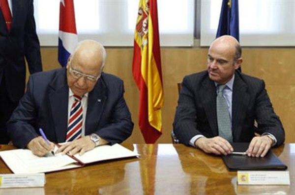 Cuba y España firman acuerdos en el área económica y financiera