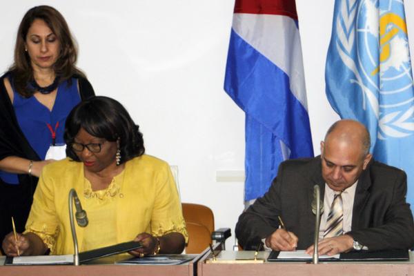 Suscriben Cuba y OPS estratégico convenio en el ámbito de la Salud