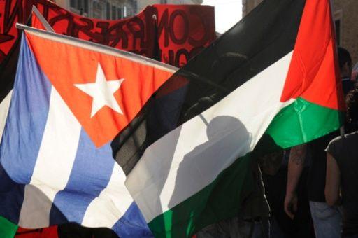 Palestinos envían mensaje solidario con la Revolución cubana