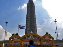 Plaza de la Revolución José Martí preparada para acoger a Benedicto XVI (+ Fotos y Video)