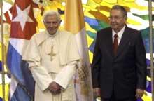 Envía carta al Presidente cubano Raúl Castro su Santidad Benedicto XVI