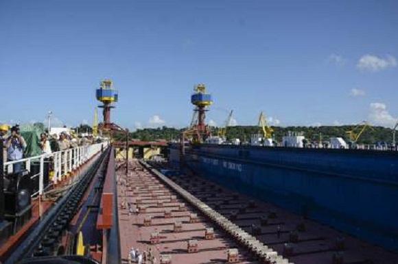 Industria naval cubana dispone de moderno dique flotante (+Fotos)