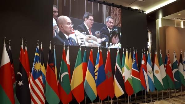 Condena Cuba en reunión ministerial del MNOAL política injerencista de EE.UU.