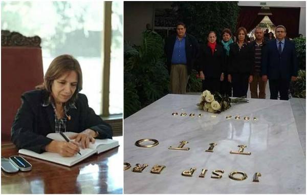 Delegación cubana rinde tributo póstumo en Belgrado al presidente Tito