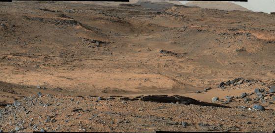 Robot Curiosity envía imágenes sobre el pasado geológico de Marte