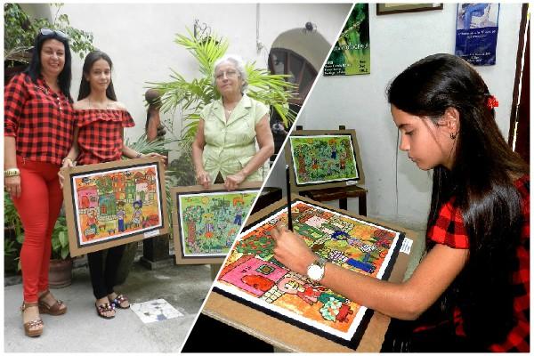 Niña camagüeyana obtiene premio en Concurso Internacional de Dibujo Infantil