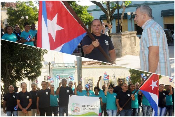 Abanderan delegación camagüeyana a Conferencia Nacional del Sindicato de Trabajadores Azucareros