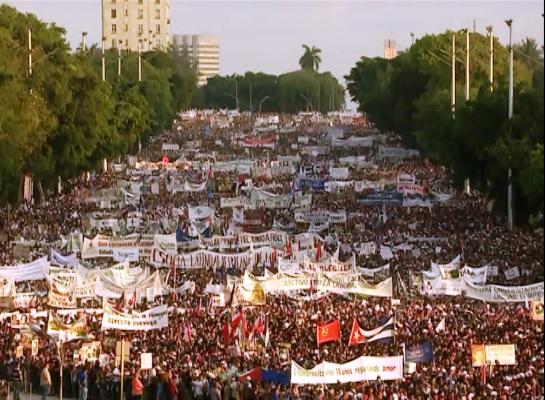 Desfile por la continuidad de la Revolución cubana