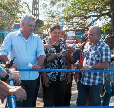 Constata Díaz-Canel avances en la reanimación de la capital cubana