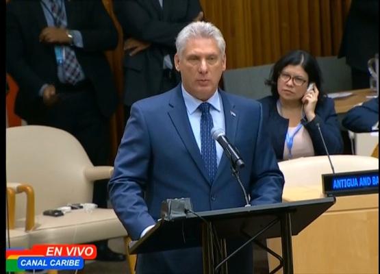 Díaz-Canel ratifica en ONU compromiso de Cuba con eliminación de armas nucleares (+ Video)
