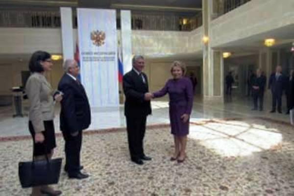 Consideran excelentes las relaciones bilaterales líder de Senado ruso y Vicepresidente cubano
