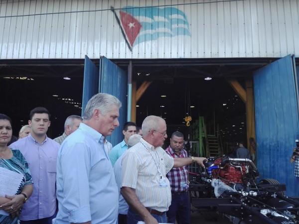 Díaz-Canel entame une visite gouvernementale à la province d'Artemisa (+ Photos)