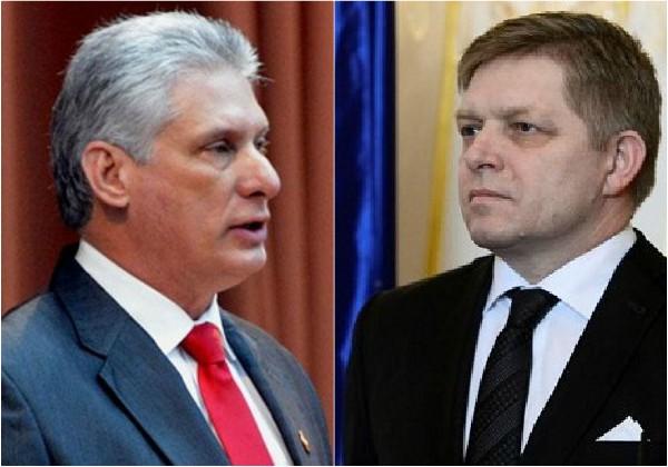 Díaz-Canel a reçu Robert Fico, ex-premier ministre de la République slovaque
