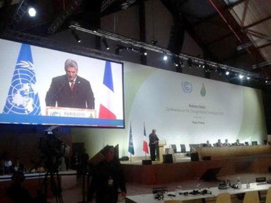 Cuba expresa en COP21 preocupaciones del mundo en desarrollo