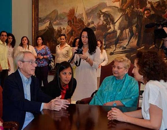 Recibe Eusebio Leal a la Directora General de la UNESCO (+ Fotos)