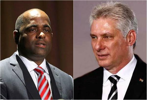 Díaz-Canel felicita a Roosevelt Skerrit por victoria electoral en Dominica