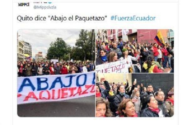 Revolución Ciudadana denuncia al Gobierno de Moreno por reprimir al pueblo ecuatoriano