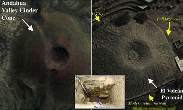 Investigan en Perú desconcertante pirámide con forma de volcán