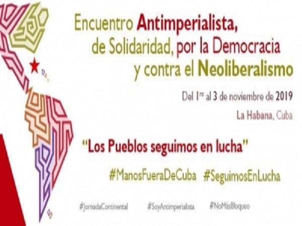 Será Cuba epicentro de encuentro internacional antimperialista de solidaridad