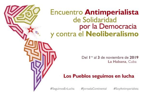 Convocan desde Cuba a encuentro continental antimperialista de solidaridad